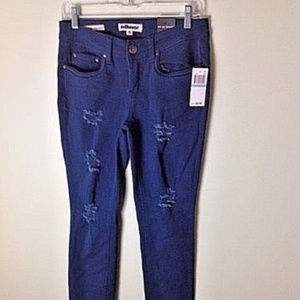 Dollhouse roll-up-skinny jeans color turquoise NWT